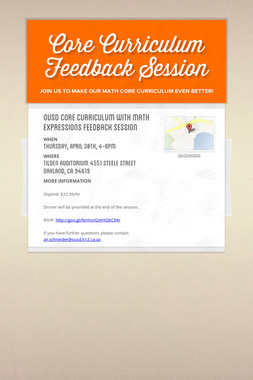 Core Curriculum Feedback Session