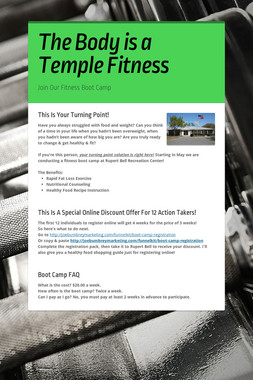 The Body is a Temple Fitness