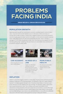 Problems Facing India