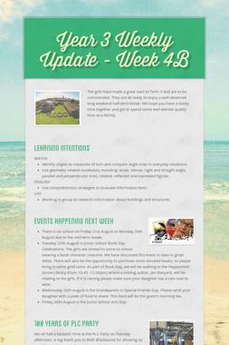 Year 3 Weekly Update - Week 4B