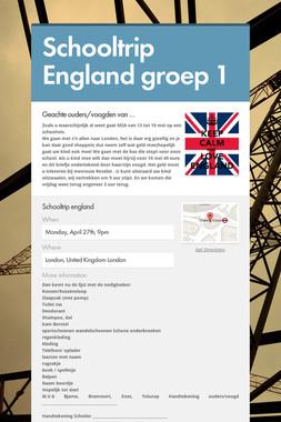 Schooltrip England groep 1