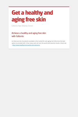 Get a healthy and aging free skin