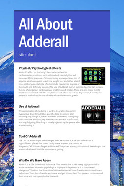 All About Adderall