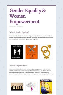 Gender Equality & Women Empowerment