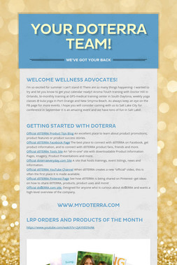 Your Doterra Team!