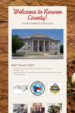 Welcome to Rowan County!