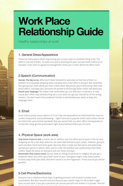 Work Place Relationship Guide