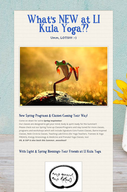 What's NEW at LI Kula Yoga??