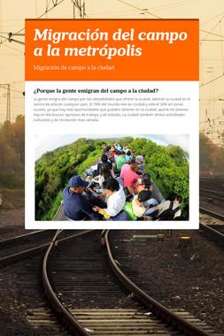 Migración del campo a la metrópolis