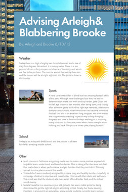 Advising Arleigh& Blabbering Brooke