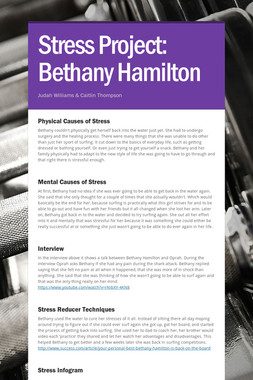 Stress Project: Bethany Hamilton