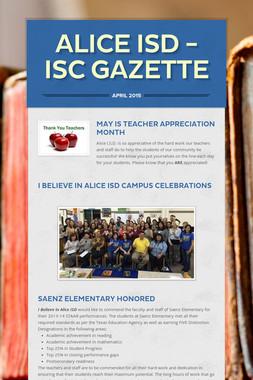 Alice ISD - ISC Gazette
