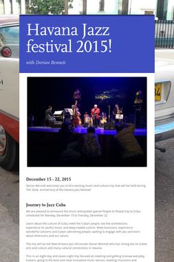 Havana Jazz festival 2015!