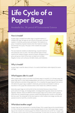 Life Cycle of a Paper Bag