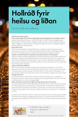 Hollráð fyrir heilsu og líðan