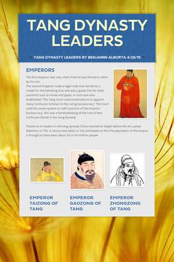 Tang Dynasty Leaders