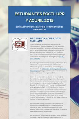 ESTUDIANTES EGCTI-UPR Y ACURIL 2015