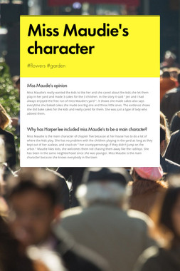 Miss Maudie's character