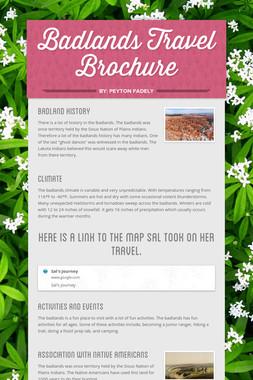 Badlands Travel Brochure