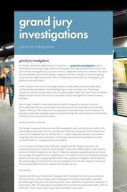 grand jury investigations