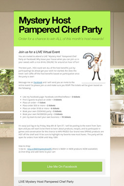 Mystery Host Pampered Chef Party