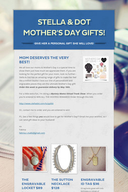 Stella & Dot Mother's Day Gifts!