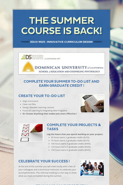 The Summer Course Is Back!