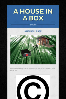A house in a box
