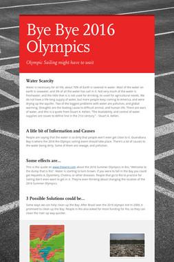 Bye Bye 2016 Olympics
