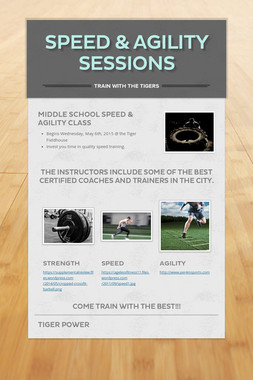 SPEED & AGILITY SESSIONS