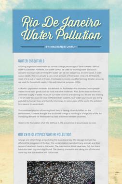 Rio De Janeiro Water Pollution