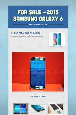 For Sale -2015 Samsung Galaxy 6