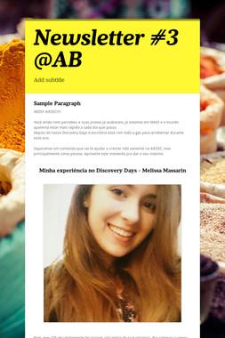 Newsletter #3 @AB