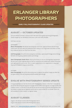 Erlanger Library Photographers