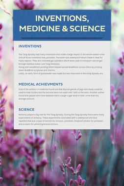 Inventions, Medicine & Science
