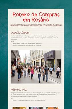 Roteiro de Compras em Rosário