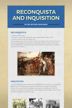 Reconquista and Inquisition