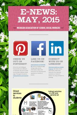 E-News: May, 2015