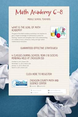 Math Academy 6-8