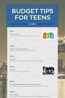 Budget Tips for Teens