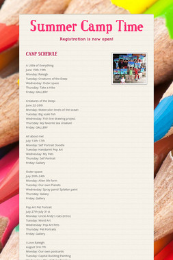 Summer Camp Time