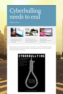 Cyberbulling needs to end
