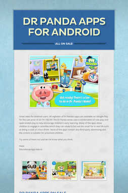 Dr Panda Apps for Android