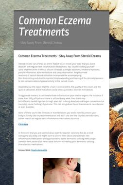 Common Eczema Treatments