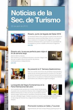 Noticias de la Sec. de Turismo