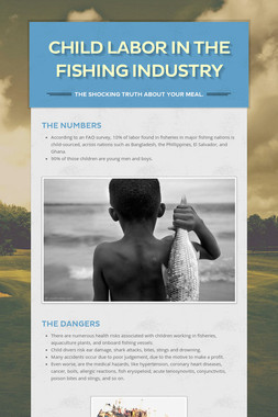 Child Labor in the Fishing Industry