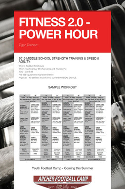 FITNESS 2.0 - POWER HOUR