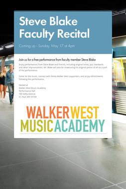 Steve Blake Faculty Recital