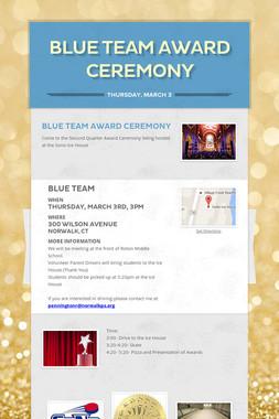 Blue Team Award Ceremony