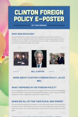Clinton Foreign Policy E-Poster